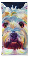 Westie - Chispy Beach Towel