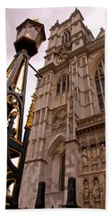 Westminster Abbey London England Beach Towel by Jon Berghoff