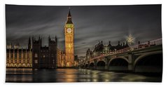 Westminster At Night Beach Towel