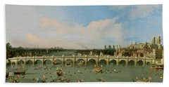 Westminster Bridge - London Beach Towel