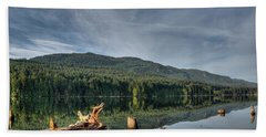 Beach Towel featuring the photograph Westwood Lake by Randy Hall