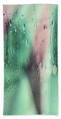 Wet Aqua Beach Towel by Allen Beilschmidt