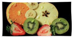 Beach Towel featuring the photograph Wet Fruit by Shane Bechler