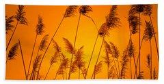 Wetland Sunset Beach Towel