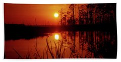 Beach Sheet featuring the photograph Wetland Sunset by Robert Geary