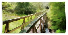 Beach Towel featuring the photograph Wetland Walk by Betsy Zimmerli