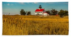 Beach Towel featuring the photograph Wetlands At East Point Light by Nick Zelinsky