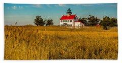 Beach Sheet featuring the photograph Wetlands At East Point Light by Nick Zelinsky