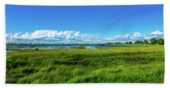 Wetlands On A Windy Spring Day Beach Towel