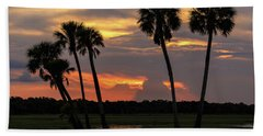 Wetlands Sunset Beach Towel
