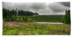 Beach Towel featuring the photograph Weyerhaeuser Headquarters by Dan McManus