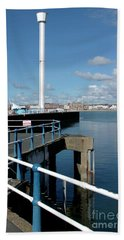 Weymouth Pavillion Pier And Tower Beach Towel by Baggieoldboy