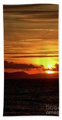 Weymouth Sunrise Beach Sheet by Baggieoldboy