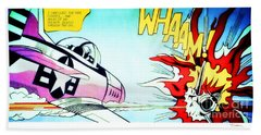 Whaam Beach Sheet by Roy Lichtenstein