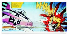 Whaam - Roy Lichtenstein  Beach Towel
