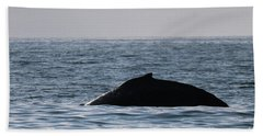 Whale Fin Beach Towel by Suzanne Luft