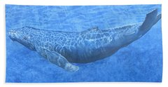 Whale In Surface Light Beach Towel