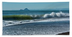 Beach Towel featuring the photograph Whale Island by Werner Padarin