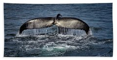 Beach Towel featuring the photograph Whale Tail by Andrea Platt