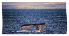 Beach Towel featuring the photograph Whale Tail by Susan Rissi Tregoning