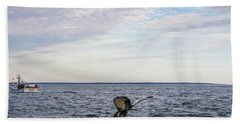 Beach Towel featuring the photograph Whale Watching In Canada by Trace Kittrell