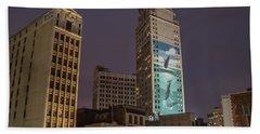 Whales In Detroit  Beach Towel