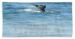 Beach Towel featuring the photograph Whale's Tail by Peggy Hughes