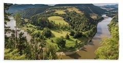 Beach Towel featuring the photograph Whanganui River Bend by Gary Eason