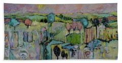 What A Bird Sees Beach Towel by Sharon Furner