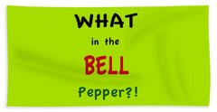 What In The Bell Pepper? Beach Towel