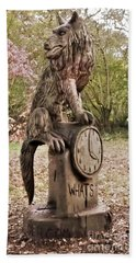 Whats The Time Mr Wolf Beach Towel by John Williams