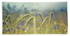 Wheat And Corn Flowers Beach Towel
