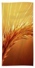 Wheat Close-up Beach Sheet