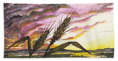 Wheat Field Beach Towel