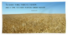 Wheat Field Harvest Season Beach Sheet