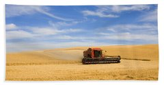 Wheat Harvest Beach Sheet