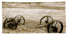 Wheels Of The Past Beach Towel