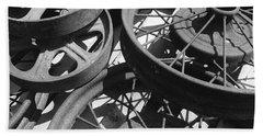 Wheels Of Time Beach Sheet by Tim Good