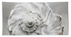 Beach Towel featuring the photograph Whelk In Black And White by Benanne Stiens