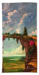When Angels Garden In Heaven Beach Towel