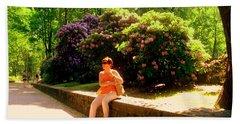 When Blooming Lilacs Beach Sheet