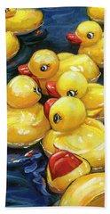 When Ducks Gossip Beach Towel