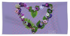 Beach Towel featuring the mixed media When Love Is New by Nancy Lee Moran