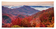 Beach Towel featuring the photograph When Mountains Sing by Karen Wiles