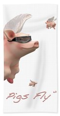 When Pigs Fly Beach Towel