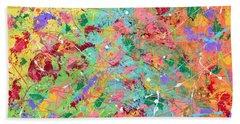 When Pollock Was Happy Beach Sheet