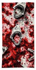 When Sharks Attack  Beach Towel