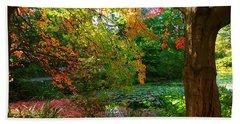 Where Autumn Lingers  Beach Sheet