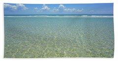 Where Crystal Clear Ocean Waters Meet The Sky Beach Towel