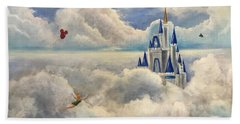 Where Dreams Come True Beach Towel